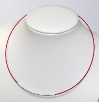 glanzfee spiral halsreif 45 cm mit steckverschlu 1 5 mm pink fuchsia. Black Bedroom Furniture Sets. Home Design Ideas