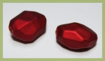 Soft-Touch-Perle Steinform 22 x 17 mm rot