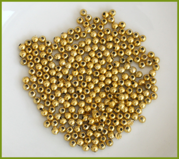 800 Glanzperlen 3 mm gold