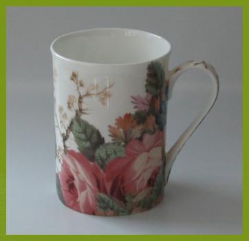 glanzfee kaffeebecher von ihr georgian rose wundersch nes rosenmotiv. Black Bedroom Furniture Sets. Home Design Ideas