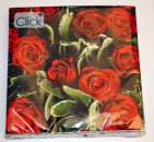 "1 Serviette ""Red Roses"" rote Rosen"